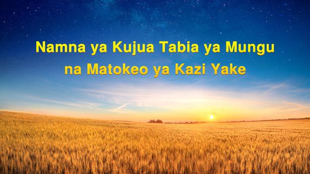 Namna ya Kujua Tabia ya Mungu na Matokeo ya Kazi Yake